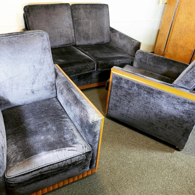 Art Deco 3 Piece Suite for Re-upholstery