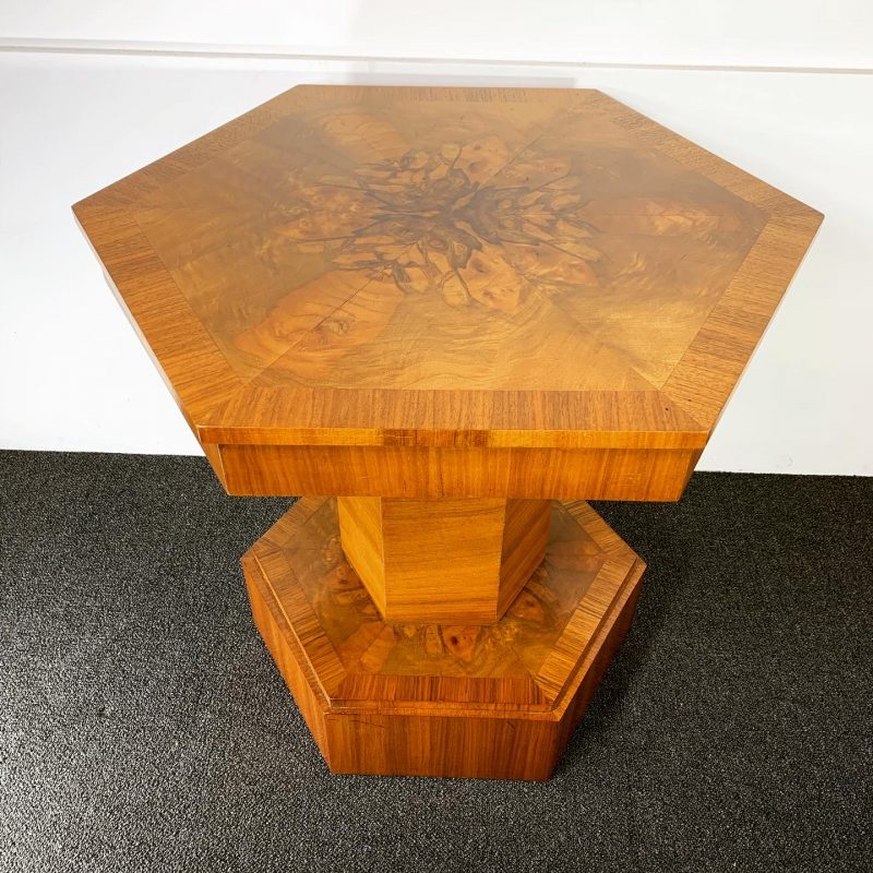 Art Deco Hexagonal Walnut Coffee Table