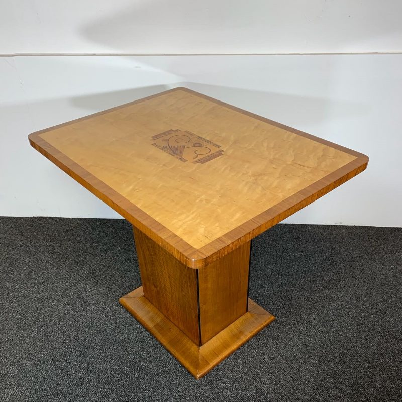 Art Deco Side Table with a Central Marquetry Panel