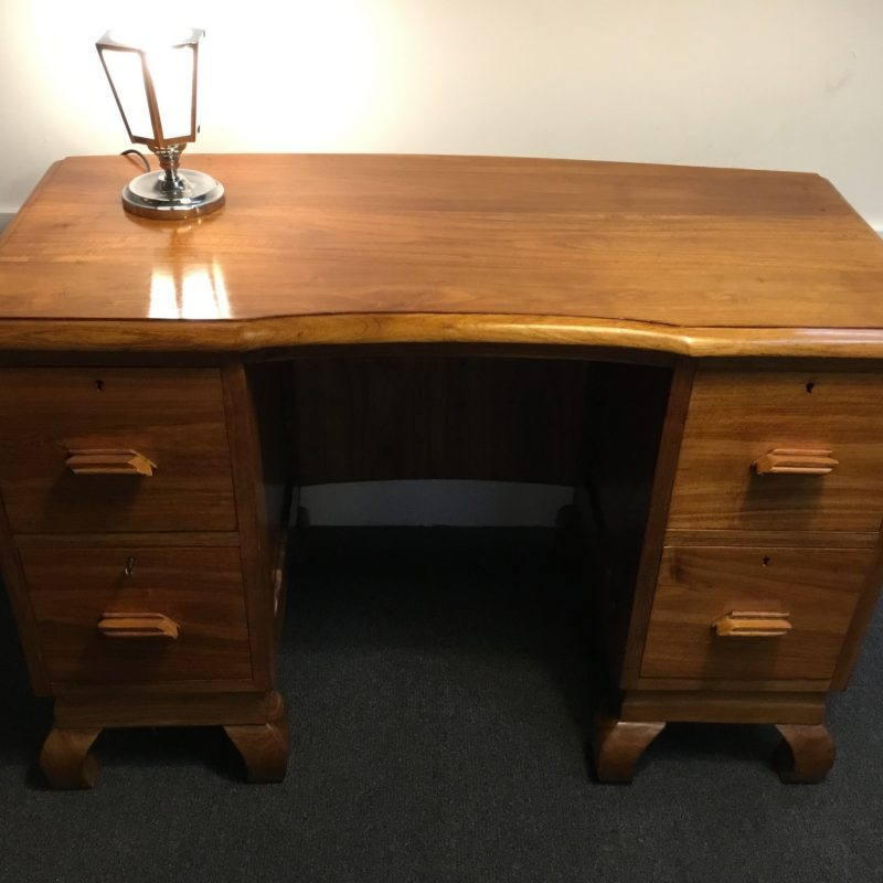 Art Deco Mukwa Desk