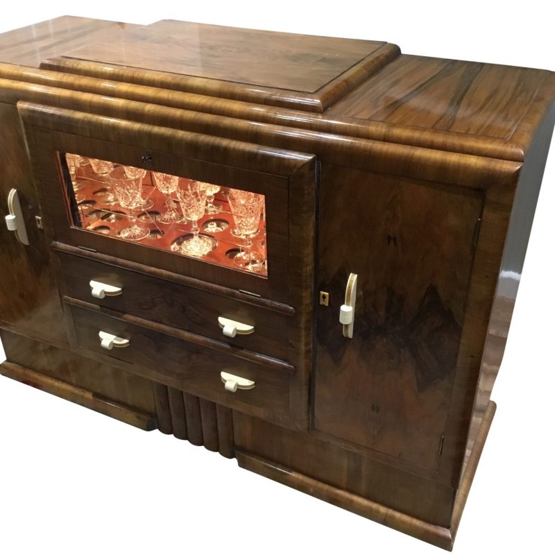 Art Deco Sideboard Cocktail Cabinet