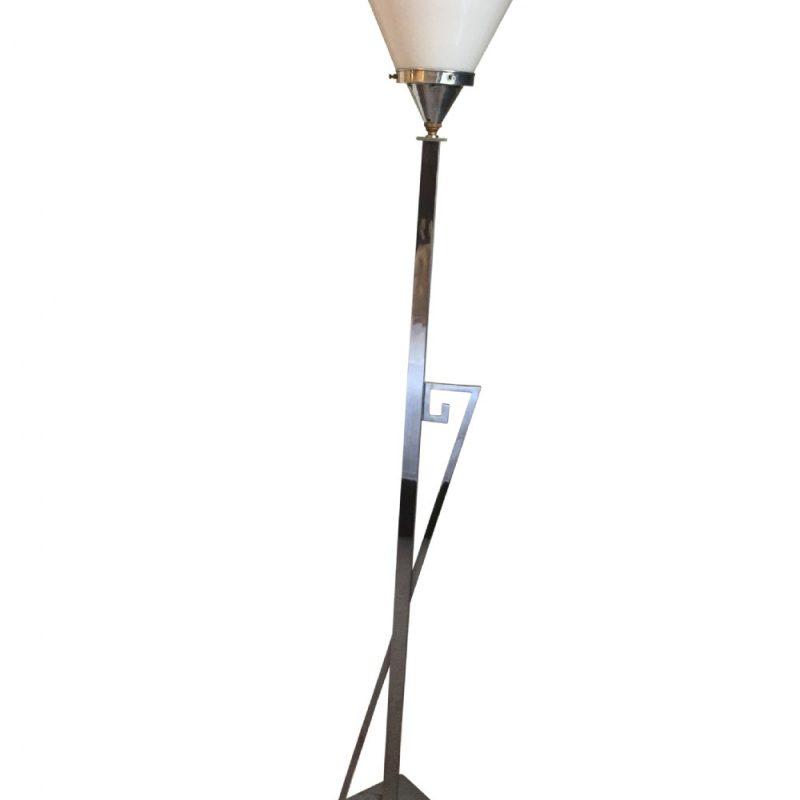 Art Deco Chrome Standard Lamp