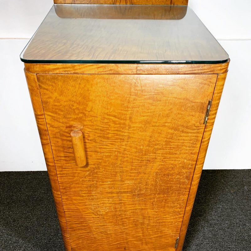 Art Deco Epstein Walnut Bedside Cabinet