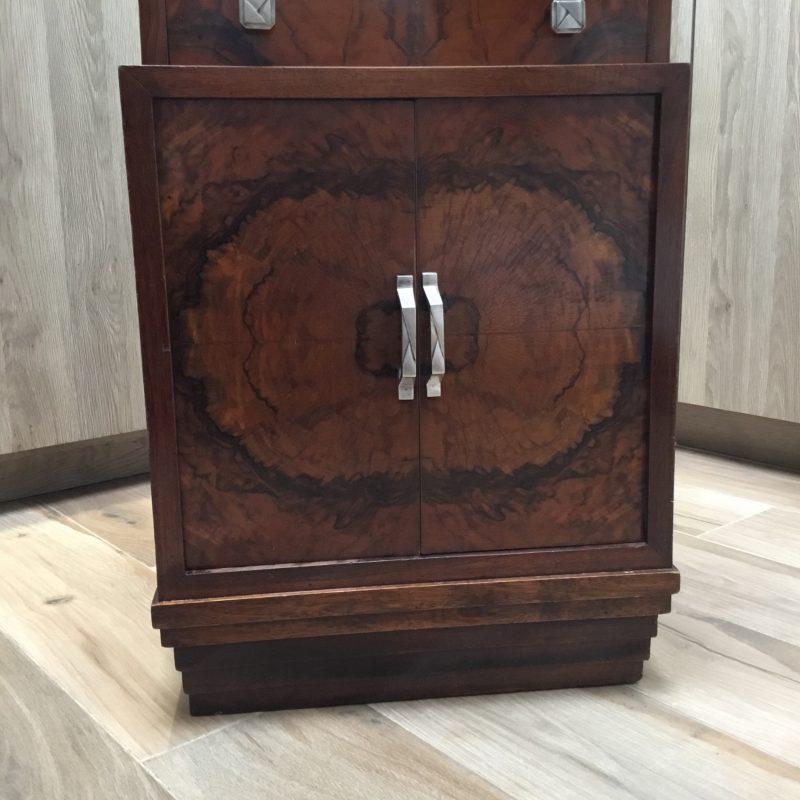French Art Deco Cabinet with Marble Top