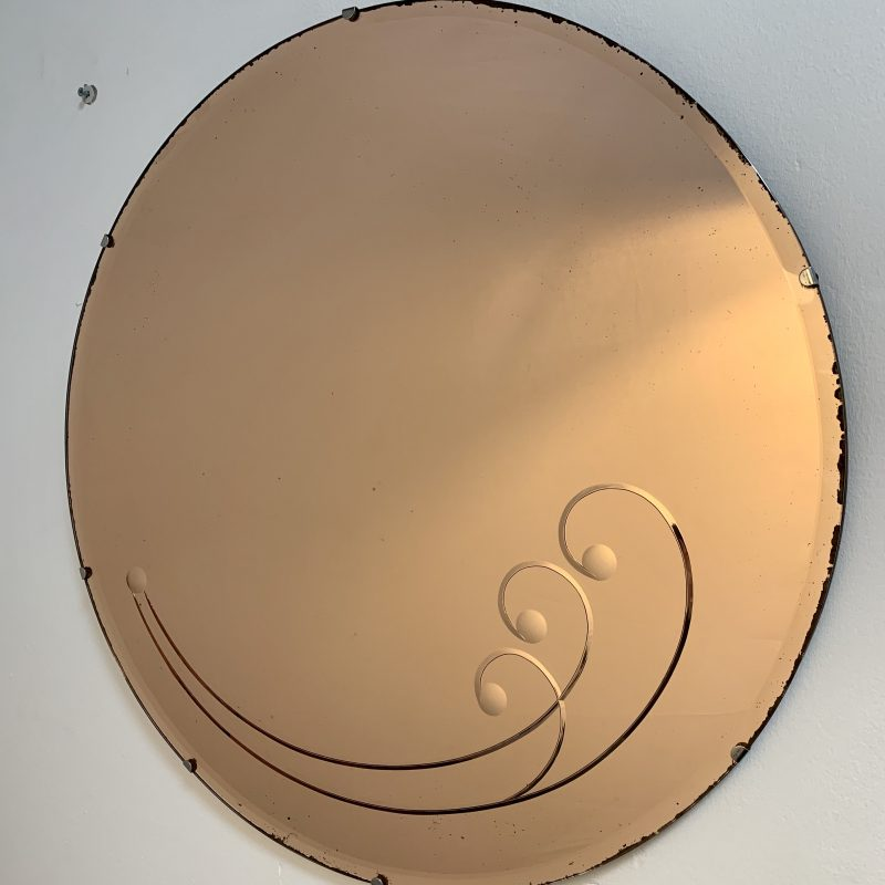 Art Deco Copper Coloured Mirror