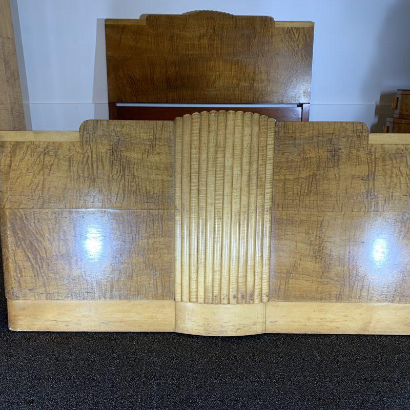 Art Deco Epstein Walnut Double Bed