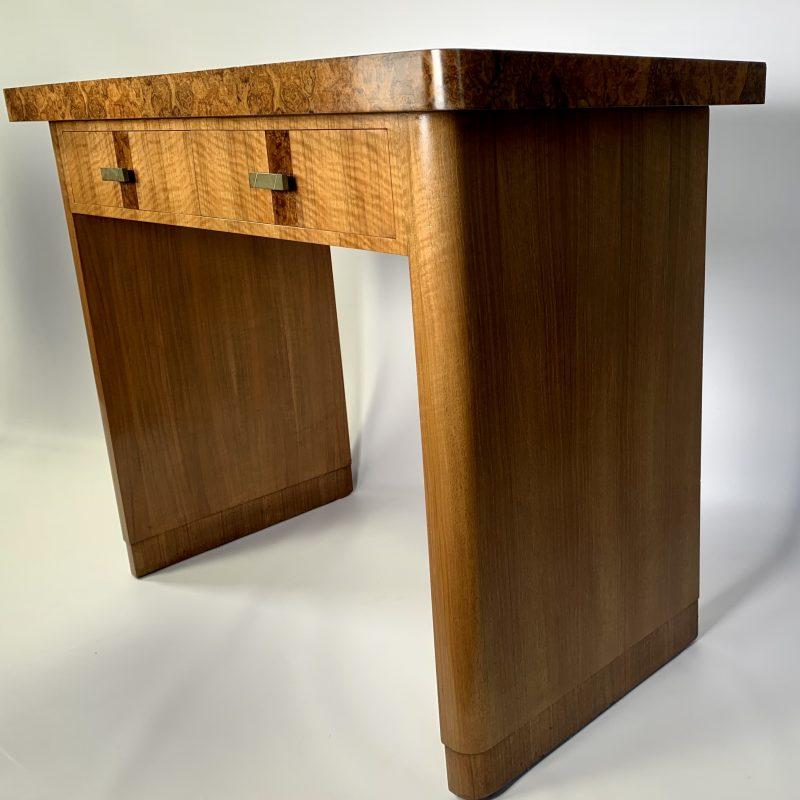 Art Deco Walnut Console Table