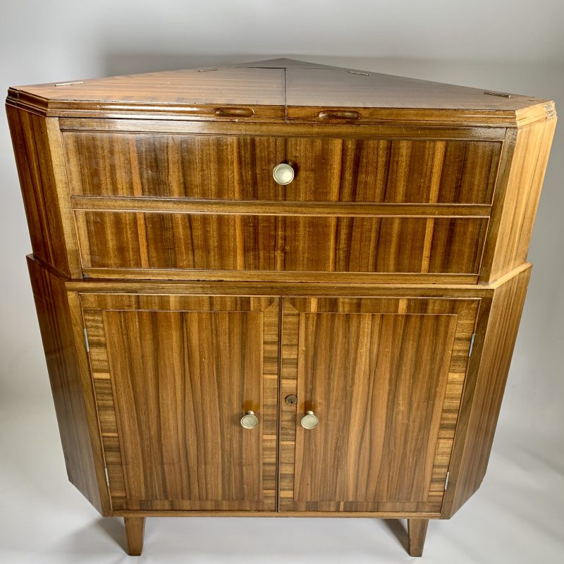 Corner Cocktail Cabinet by Heaton Tabb & Co