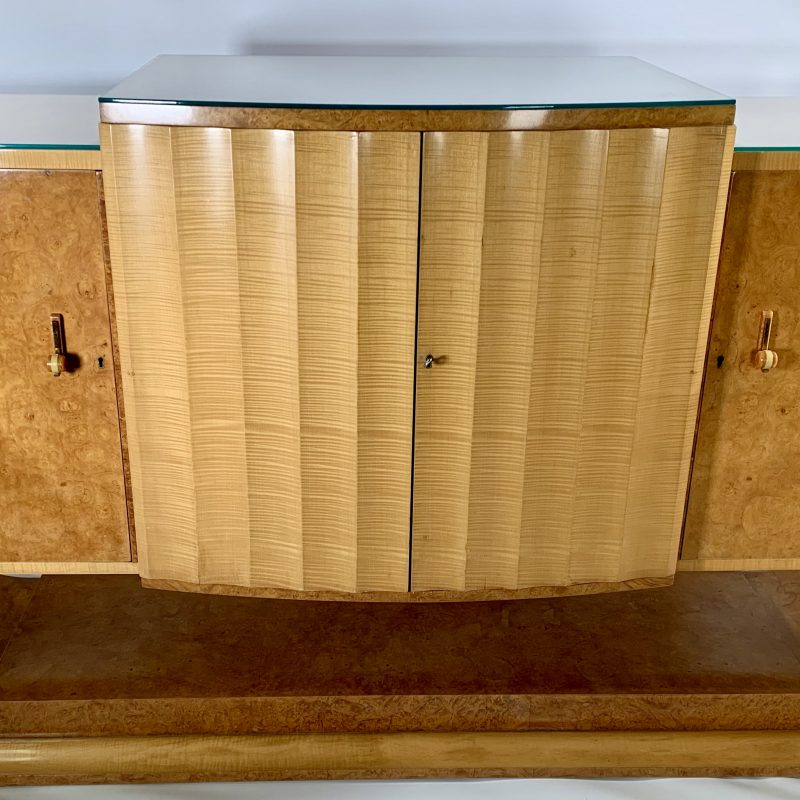 Art Deco Burr Maple and Sycamore Epstein Sideboard Cabinet