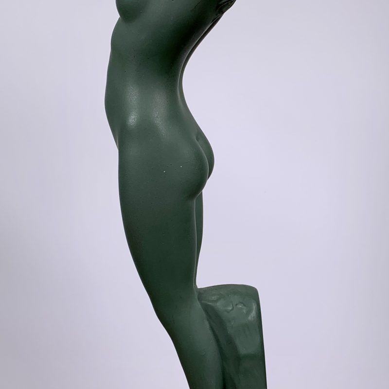 Art Deco Plaster Figure 'Dawn' by G Leonardi