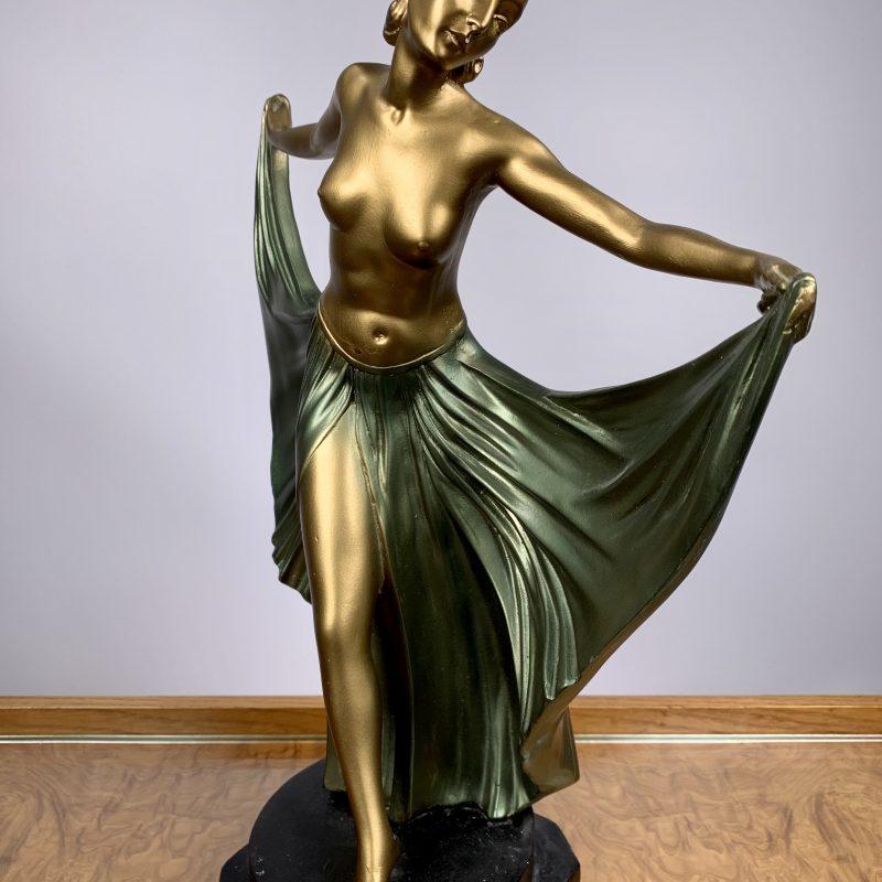 Art Deco Plaster Figure 'Rhapsody' by G Leonardi