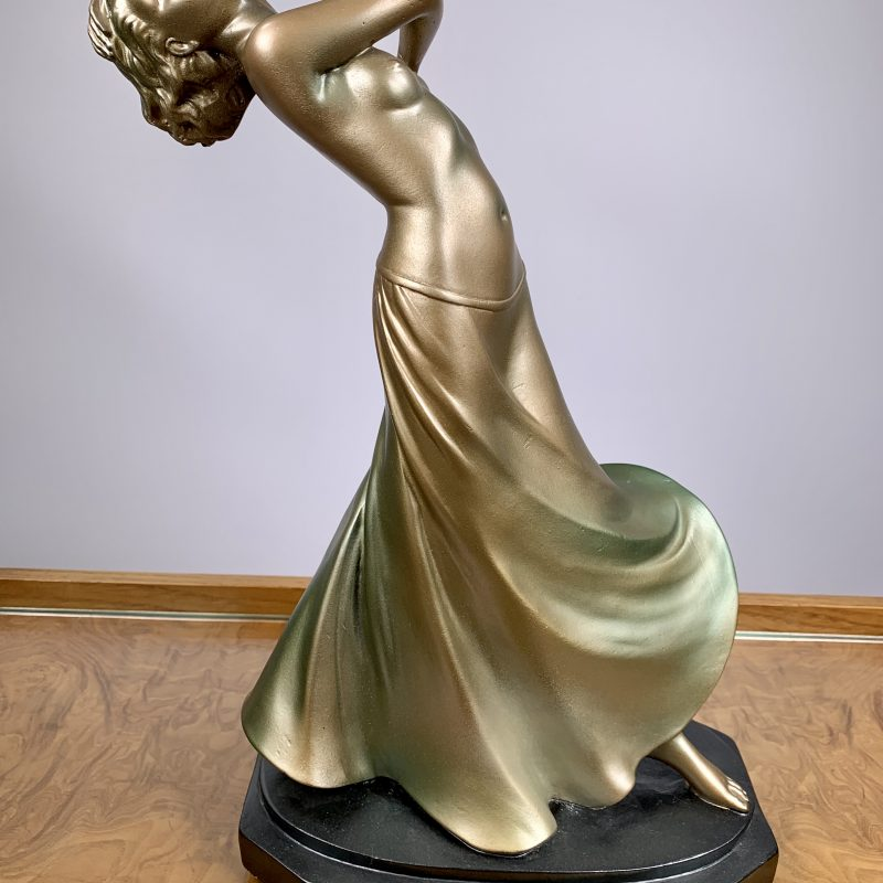 Art Deco Plaster Figure ' Rhythm' by G Leonardi
