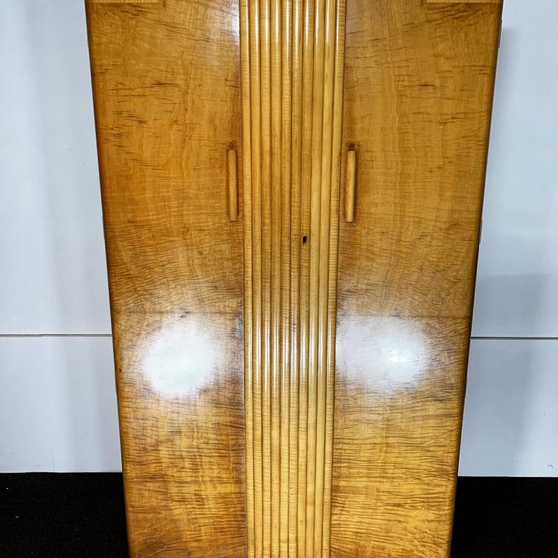 Art Deco Epstein Walnut Gentleman's Wardrobe