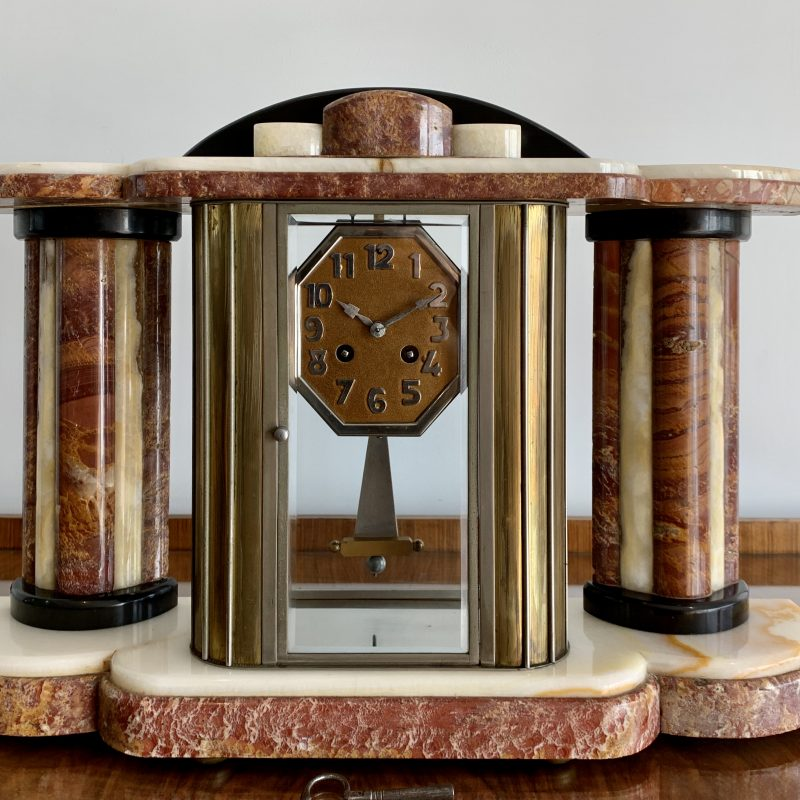 French Art Deco Large Mantel Clock