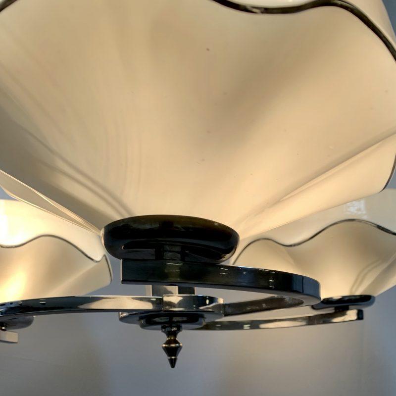 Art Deco 3 Arm Ceiling Light