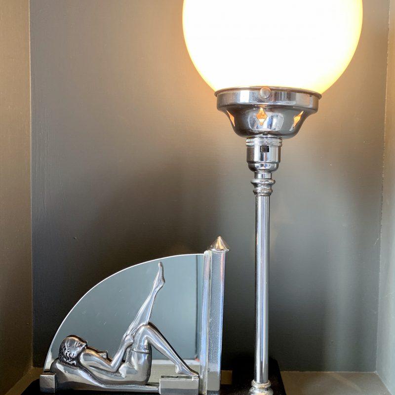 Art Deco 'Saucy Lady' Lamp