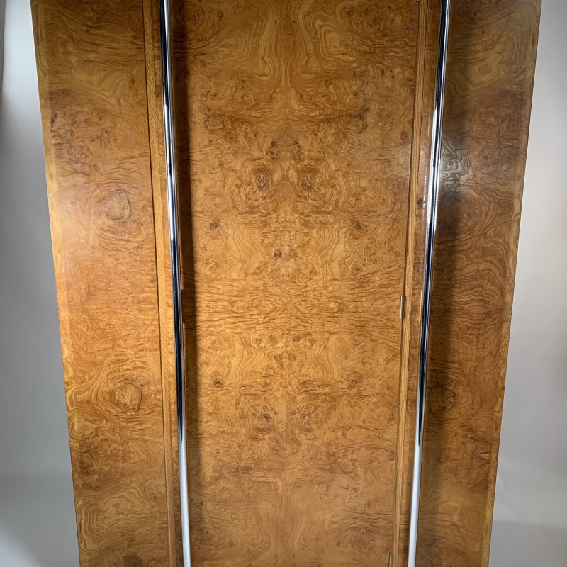 Art Deco Figured Ash Wardrobe by Bath ArtCraft Ltd
