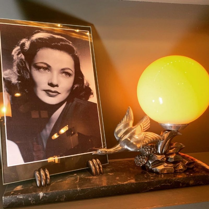 French Art Deco Photo Frame and Lamp by Limousin