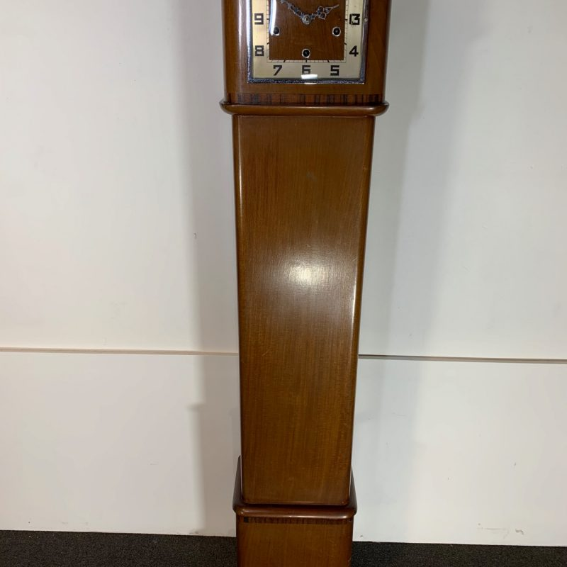 Art Deco Walnut Grandmother Clock