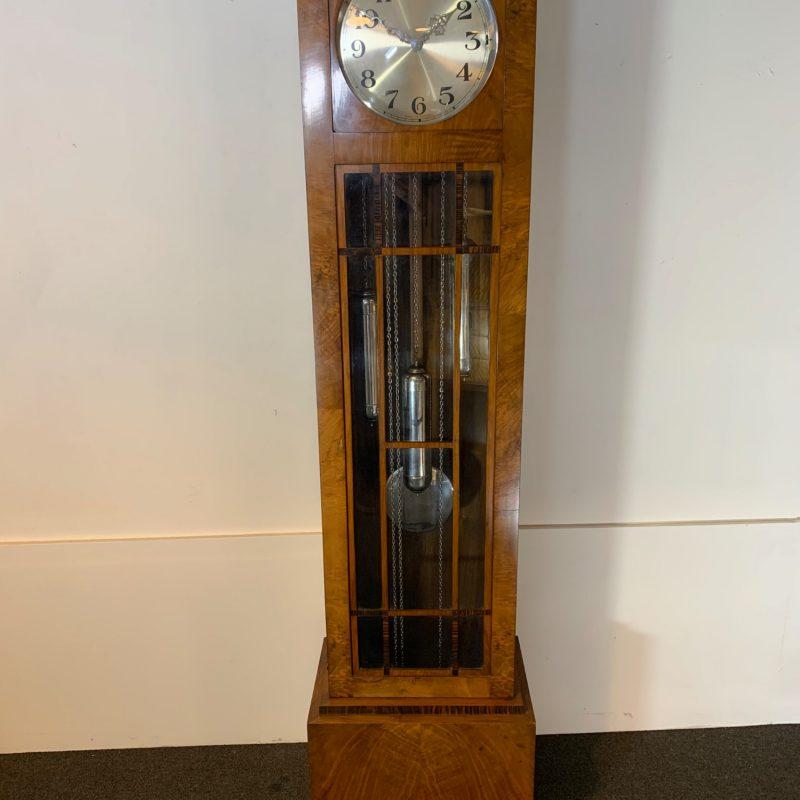 Art Deco Walnut Grandfather Clock