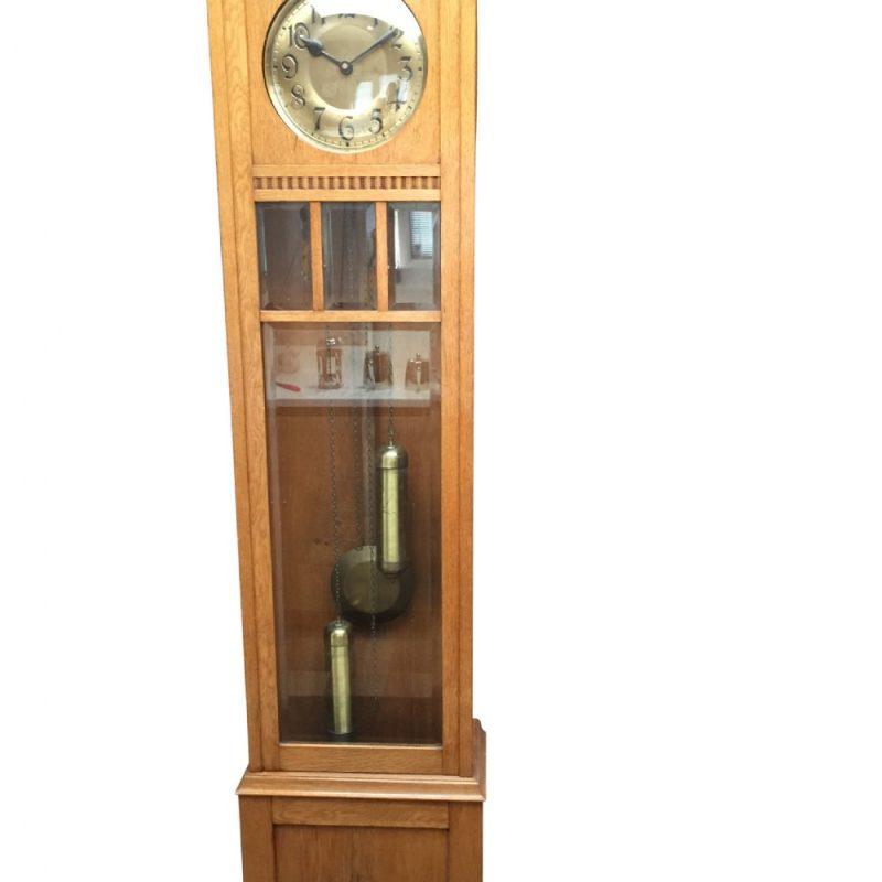Art Deco Oak Grandfather Clock