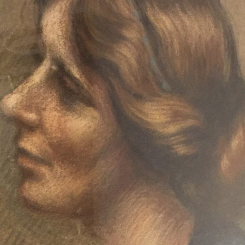 A Pastel Portrait by Agatha Walker