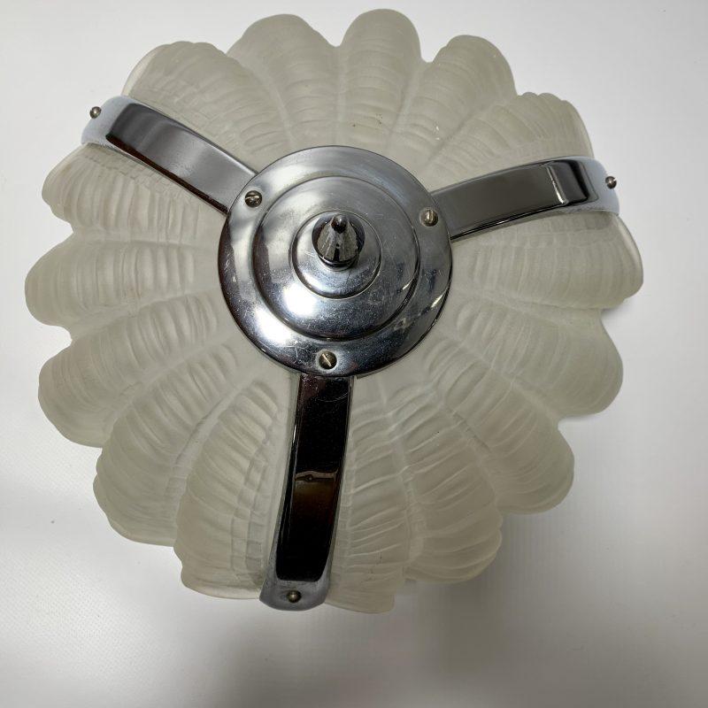 Art Deco Shell/Clam Ceiling Light