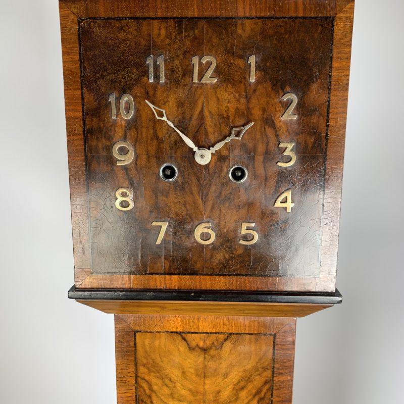 Art Deco Granddaughter Walnut Clock