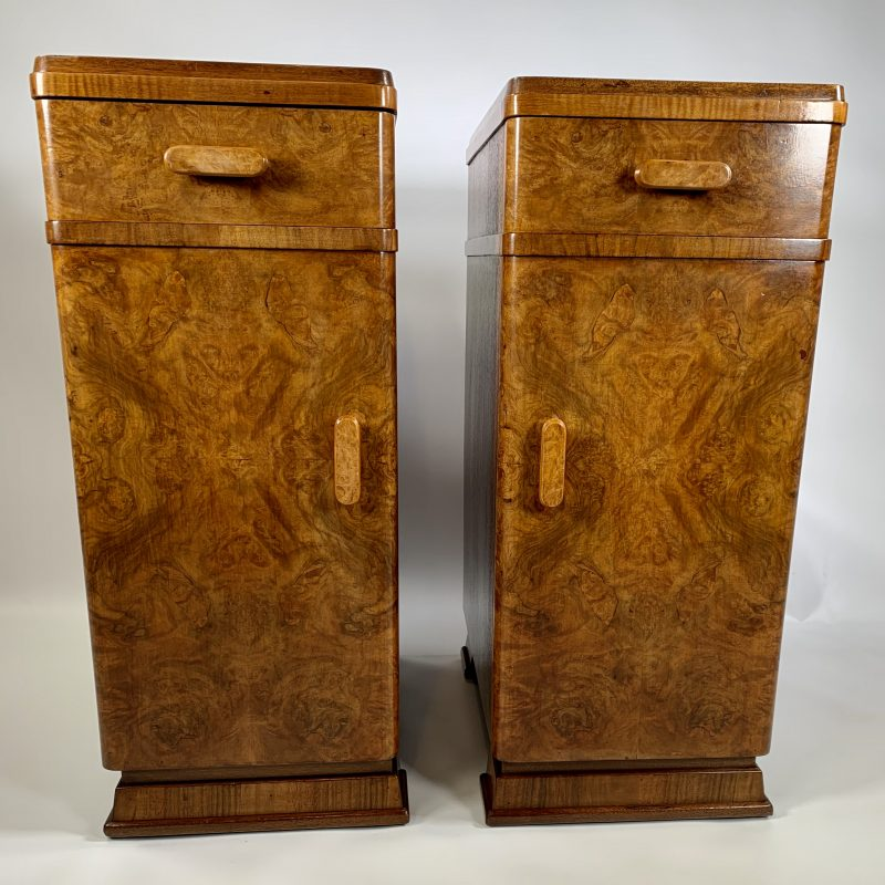 Art Deco Pair of Bedside Cabinets