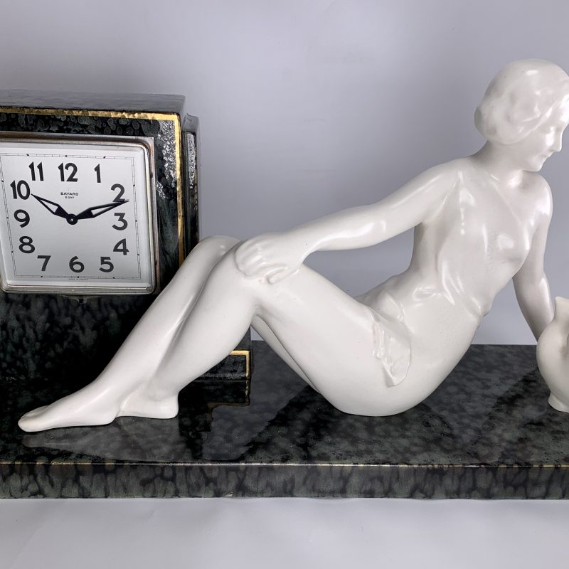 Art Deco Ceramic Clock by ODYV