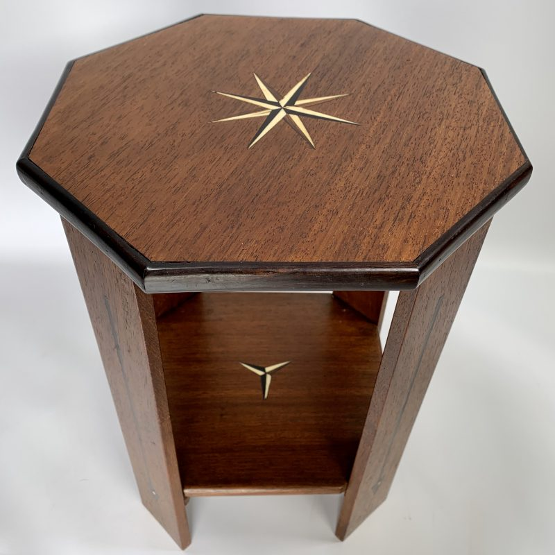 Art Deco Side Table with Inlay
