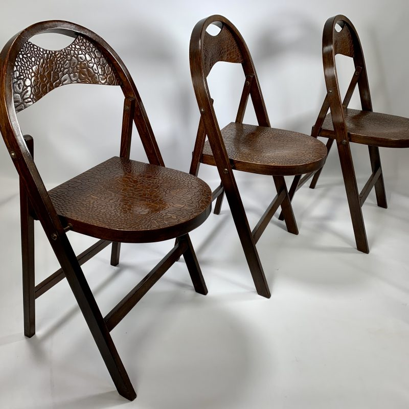 Three Bentwood Thonet Folding 'B751' Chairs