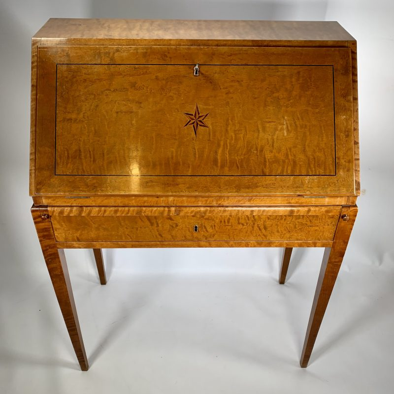 Art Deco Satin Birch Swedish Bureau