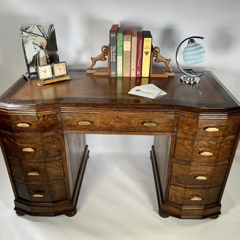 Art Deco Inglesant Oak Desk