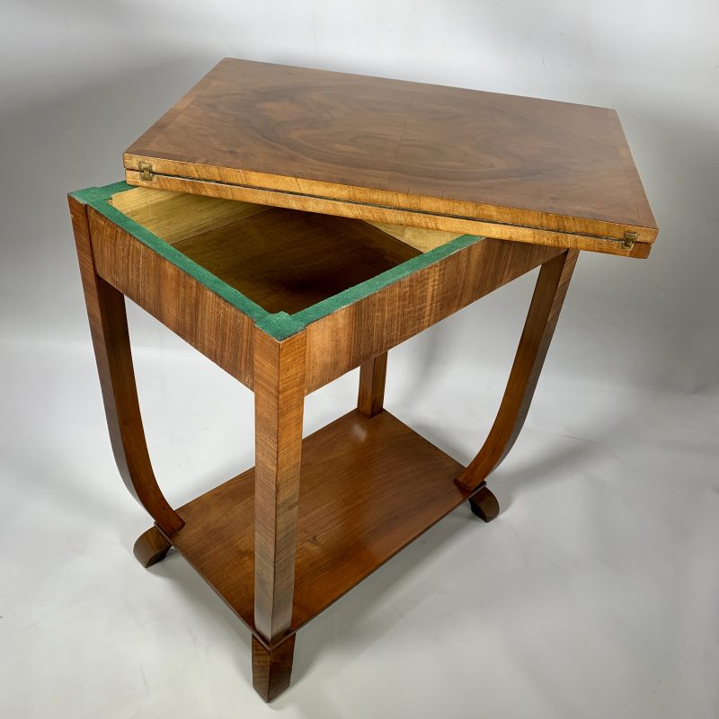 Art Deco Walnut Card Table