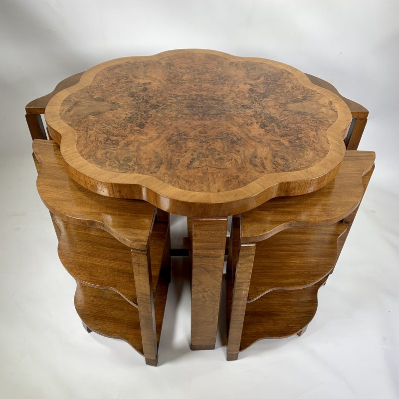 Art Deco Nest of Five Tables