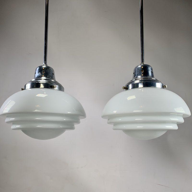 Art Deco Pair of Pendant Lights