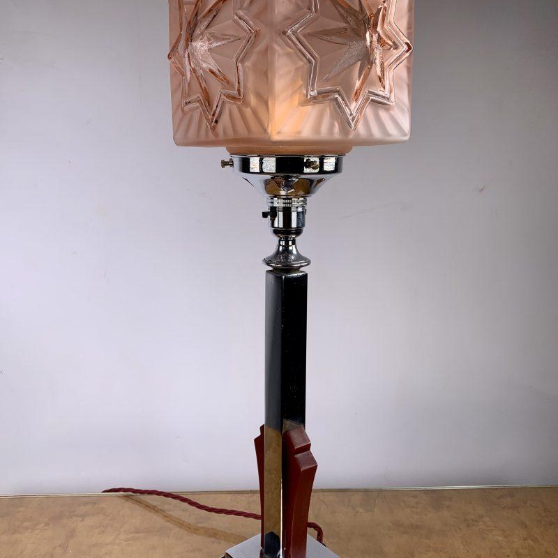 Art Deco Star Shade Lamp