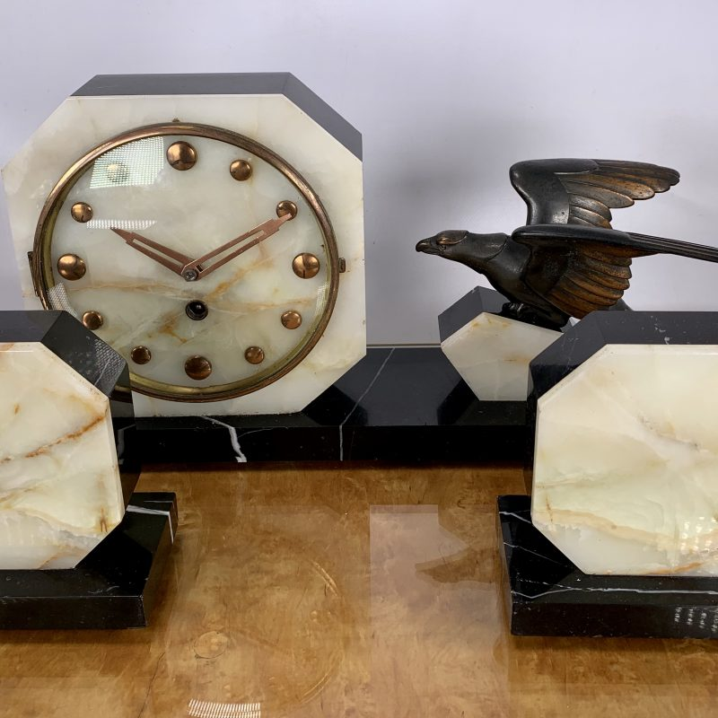 French Art Deco Mantle Clock by Balleste