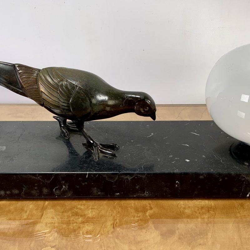 French Art Deco Pheasant Mood Lamp