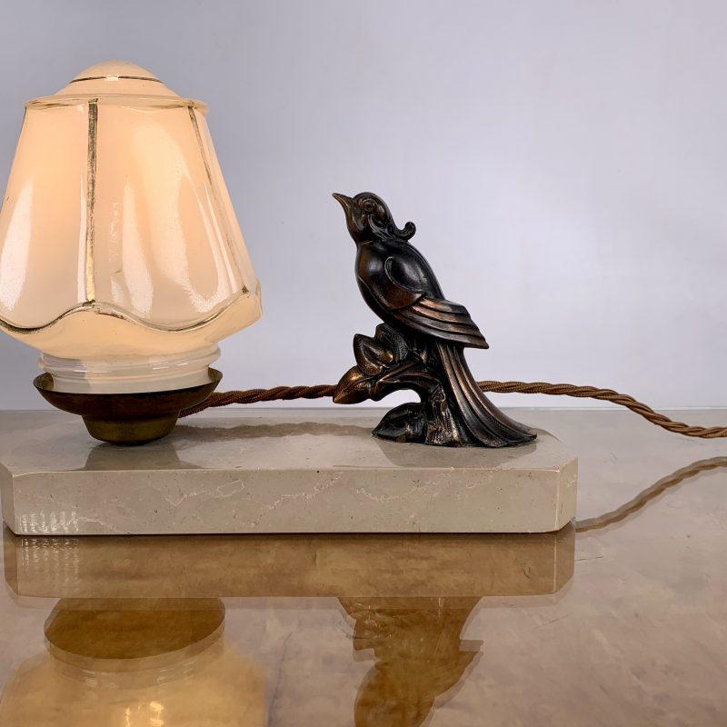 French Art Deco Bird Mood Light