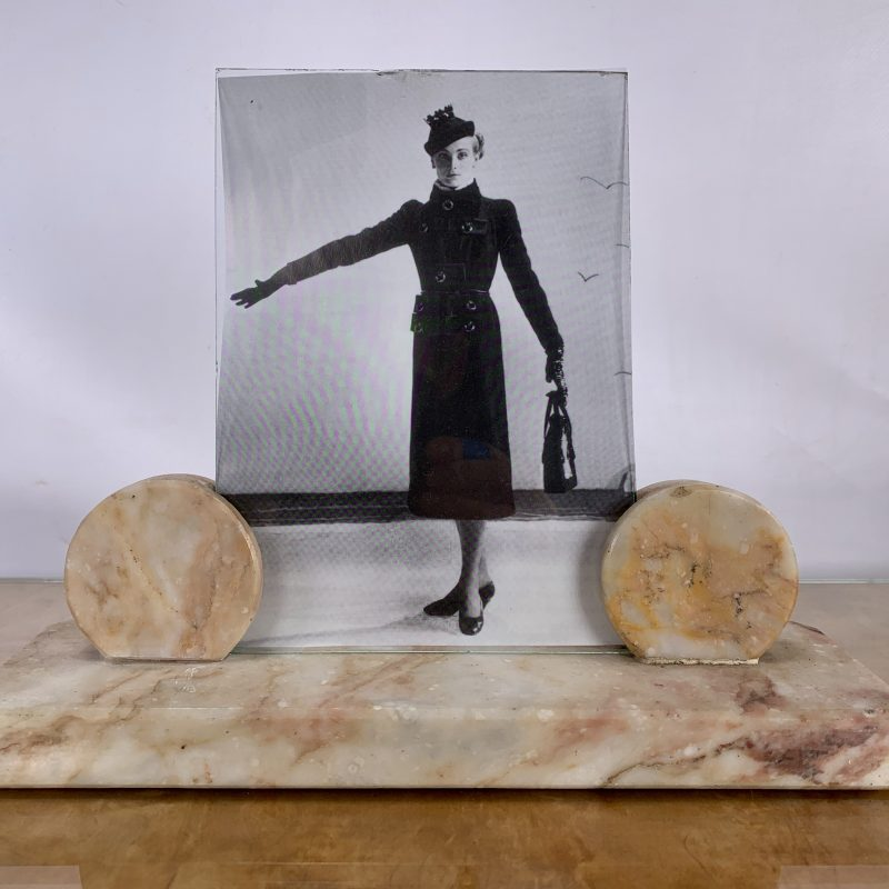 French Art Deco Marble Photo Frame
