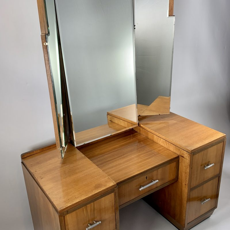 Art Deco Dressing Table with TrIptych Mirror