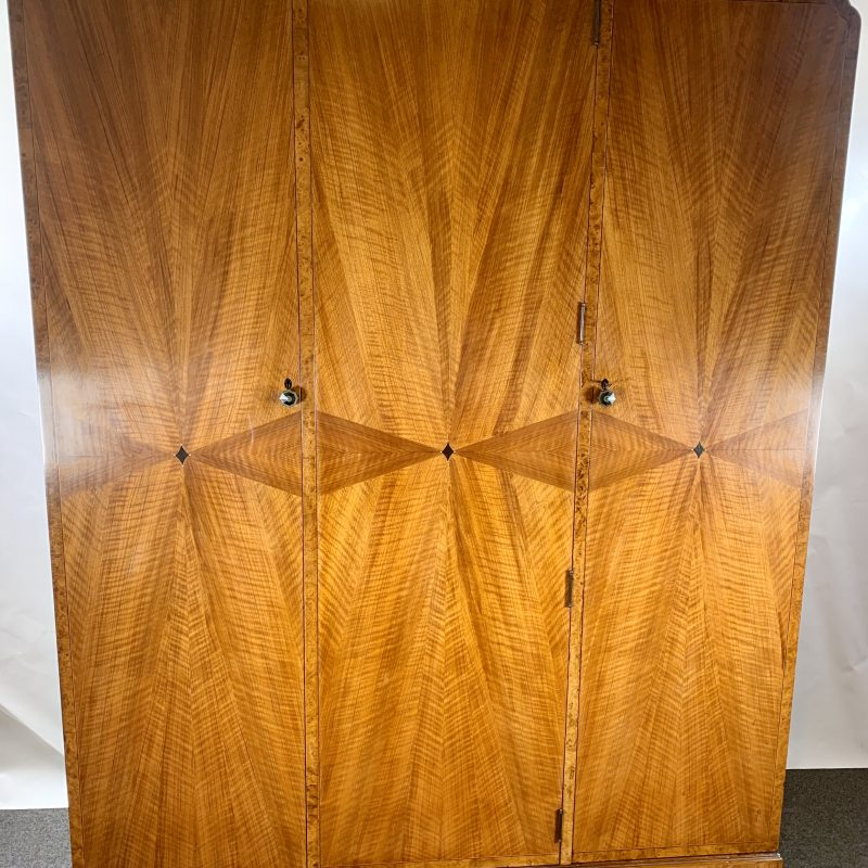 Art Deco Triple Wardrobe