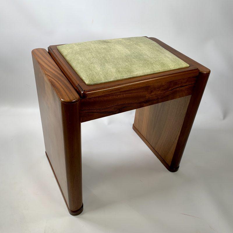 Art Deco Walnut Piano Stool