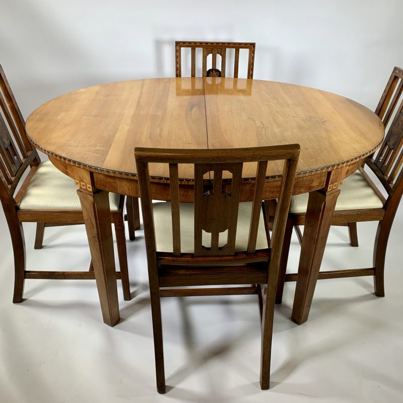 1930s 'Gaylayde' Dining Room Table and Four Chairs by B.Cohen & Sons