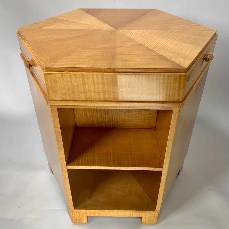 Art Deco Maple Library Table