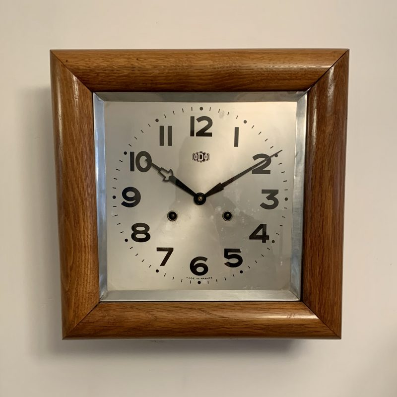 Art Deco Wall Clock by Odo