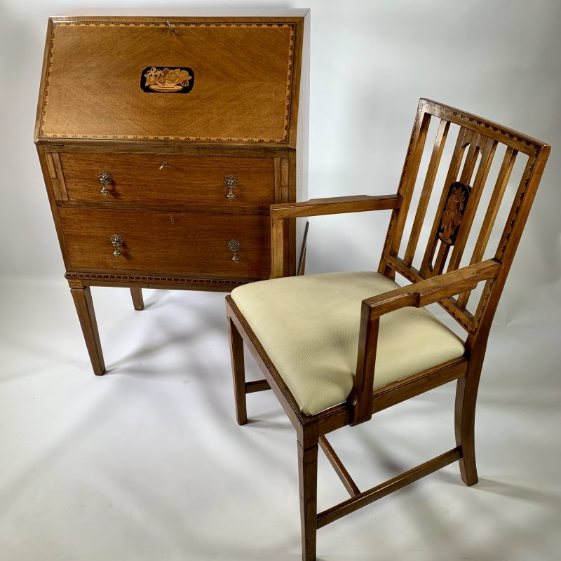 1930s 'Gaylayde' Bureau and Chair by B.Cohen & Sons Ltd