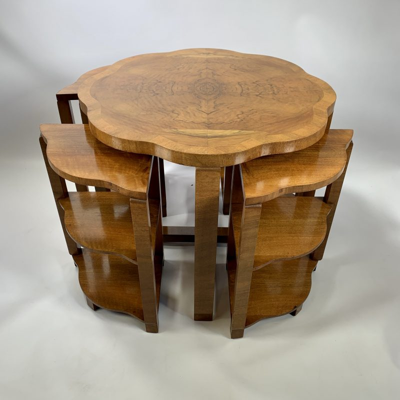 Art Deco Epstein Nest of 5 Tables